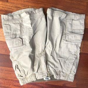 Old Navy Khaki Cargo Shorts Size 33